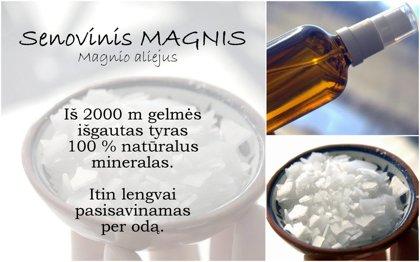 Senovinis magnis (Magnesium oil)